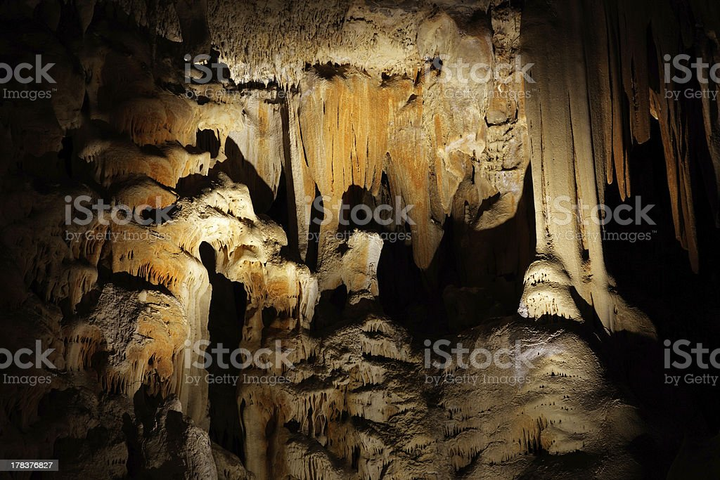 "Cango caves, South Africa ""Limestone formations in the main chamber of the Cango caves, South Africa"" Africa Stock Photo"