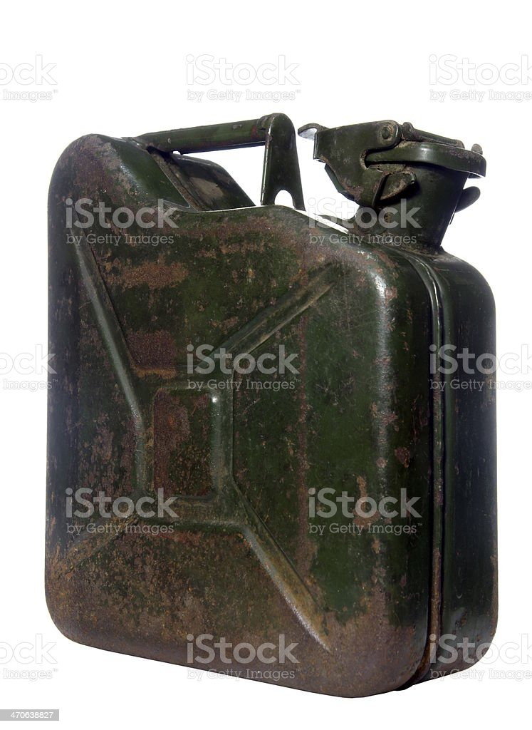 canister on white background stock photo