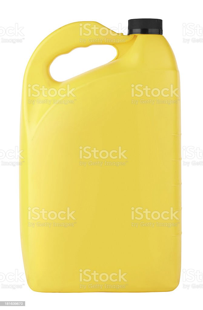 canister with machine oil stock photo