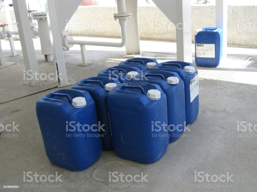Canisters with ammonia stock photo