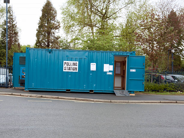 Canley Polling Station, Coventry, UK stock photo