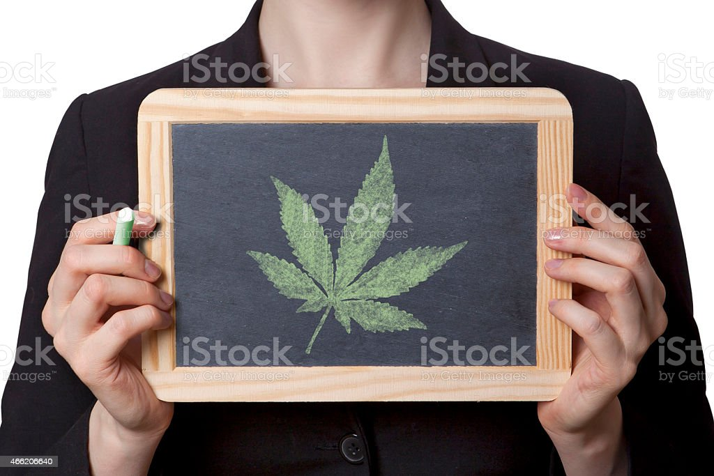 Cannabis black board stock photo