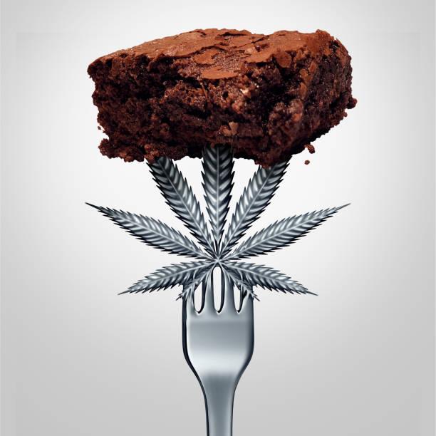 Cannabis Brownie stock photo