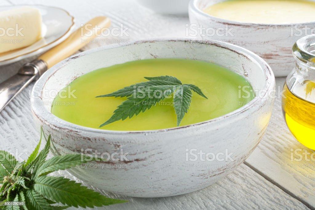 Cannabis Butter stock photo