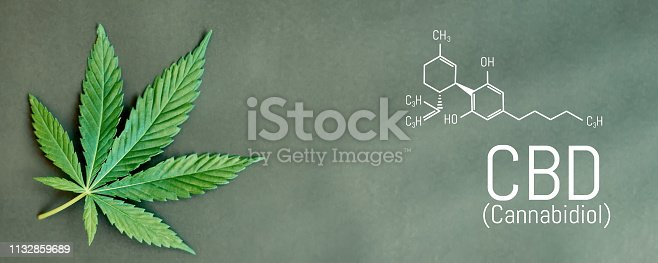 istock CBD cannabis formula. CBD oil cannabis extract, medical hemp concept 1132859689