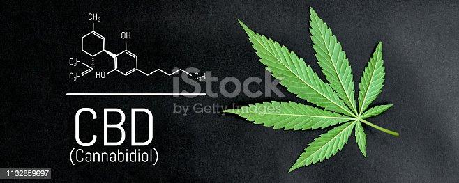 istock CBD cannabis formula. CBD oil cannabis extract, medical hemp concept 1132859697