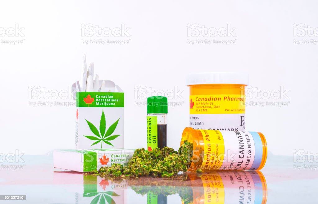 Cannabis In Canada stock photo