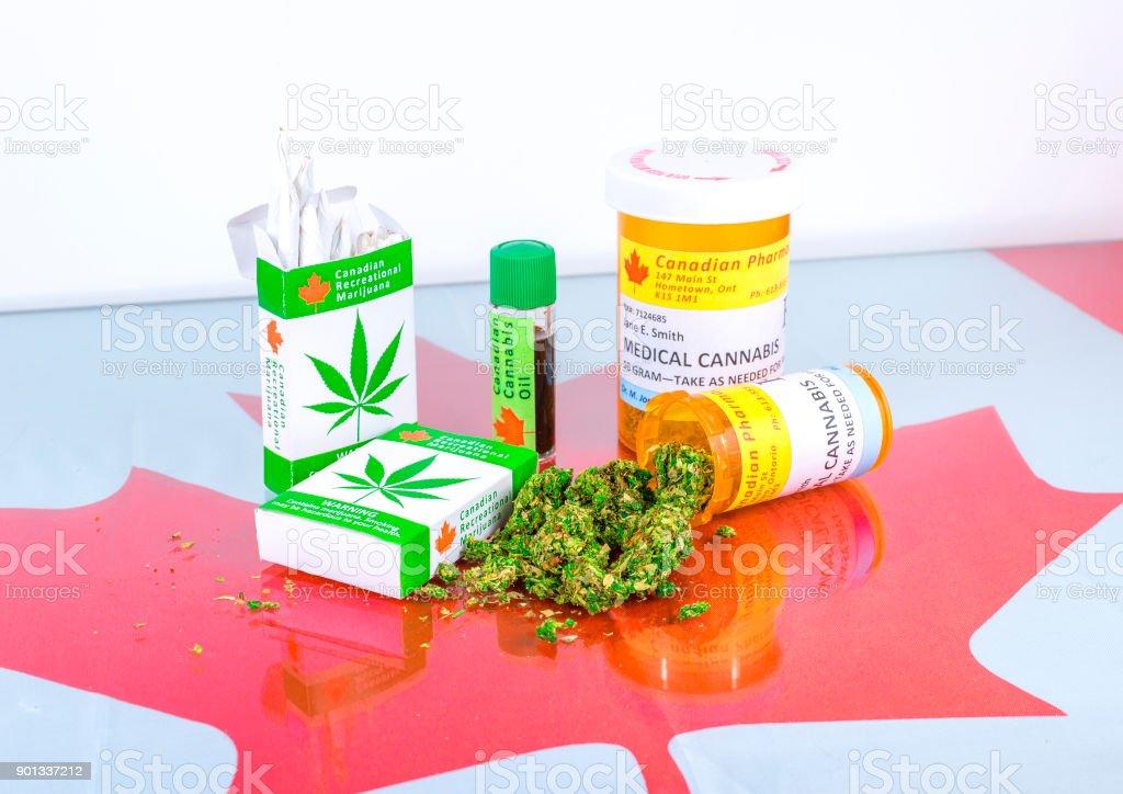 Cannabis In Canada stock photo