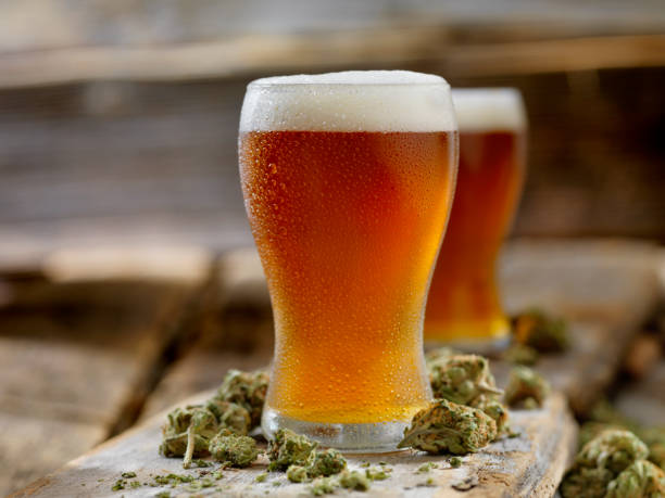 Cannabis Infused Amber Ale stock photo