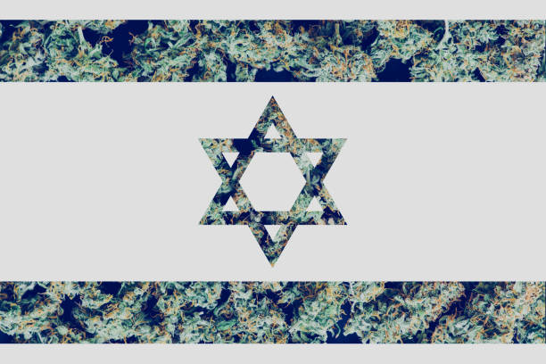 Cтоковое фото Cannabis Legalization Procedure in the Israel. Medical Use of Cannabis in Israel. The decriminalization of marijuana in Israel.