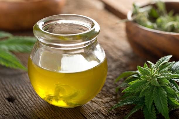 Cannabis Oil stock photo