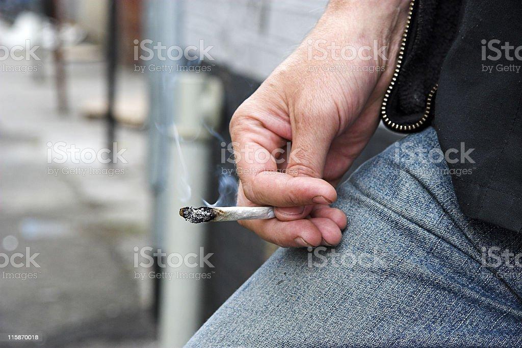 Cannabis Smoker royalty-free stock photo