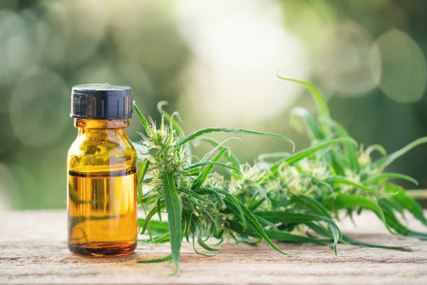 cannabis with cannabidiol (cbd) extract in a shopping cart cannabis with cannabidiol (cbd) extract in a shopping cart tincture stock pictures, royalty-free photos & images