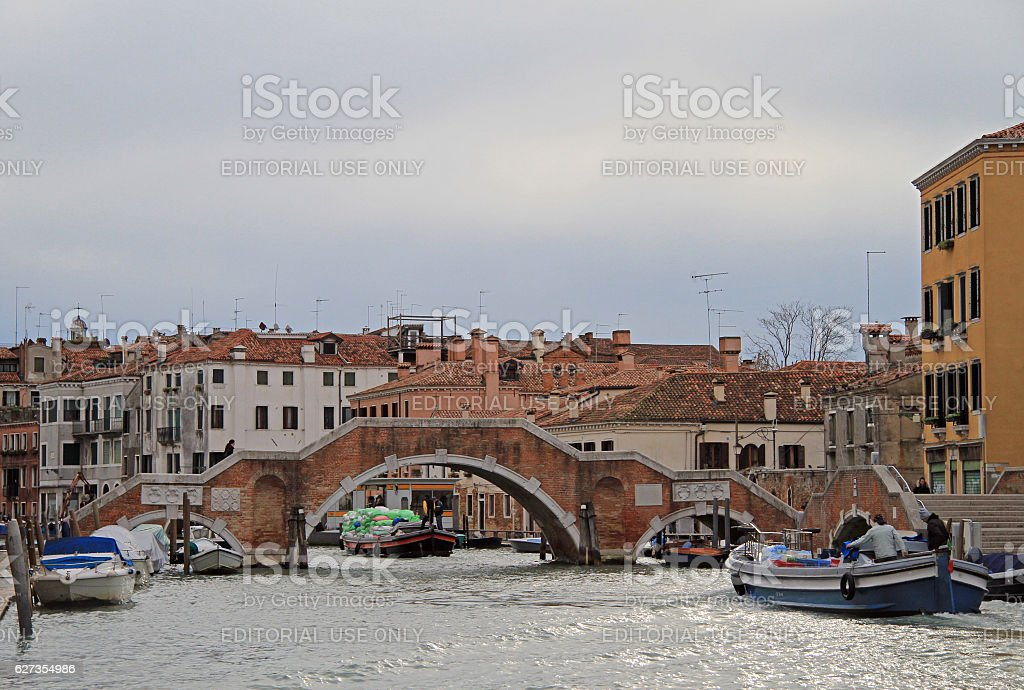 Cannaregio Canal in Venice, the city of water stock photo