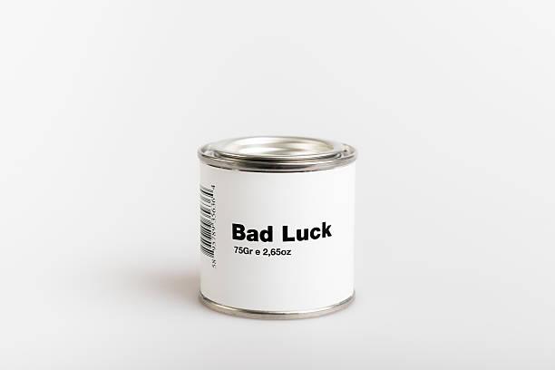 enlatado mala suerte - ironía fotografías e imágenes de stock