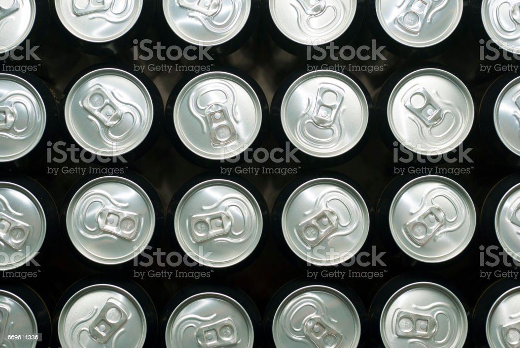 Canned beer stock photo