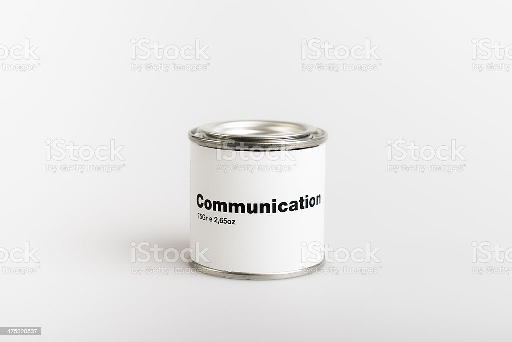Canned Communication stock photo