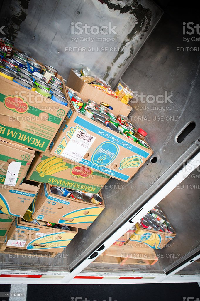 Canned Food Drive stock photo