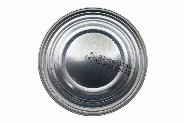 Cтоковое фото Canned food with expiry date  Cutout topic