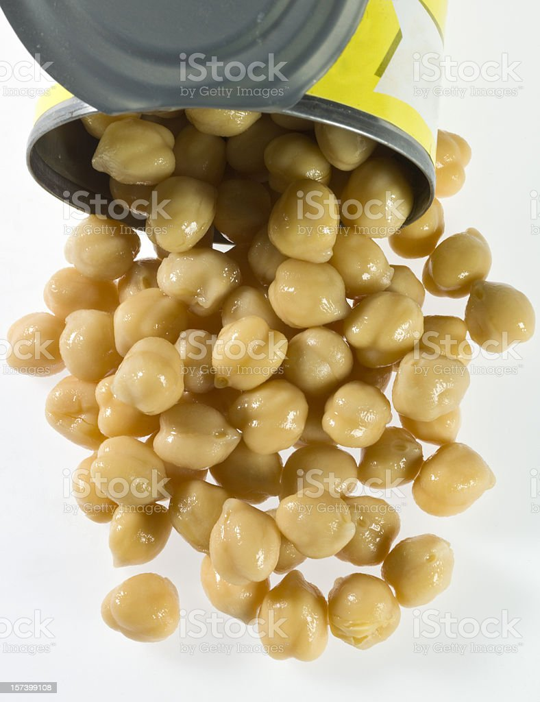 canned garbanzo beans royalty-free stock photo