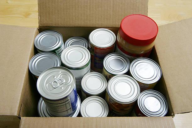 포장 용품들 - 통조림 식품 뉴스 사진 이미지