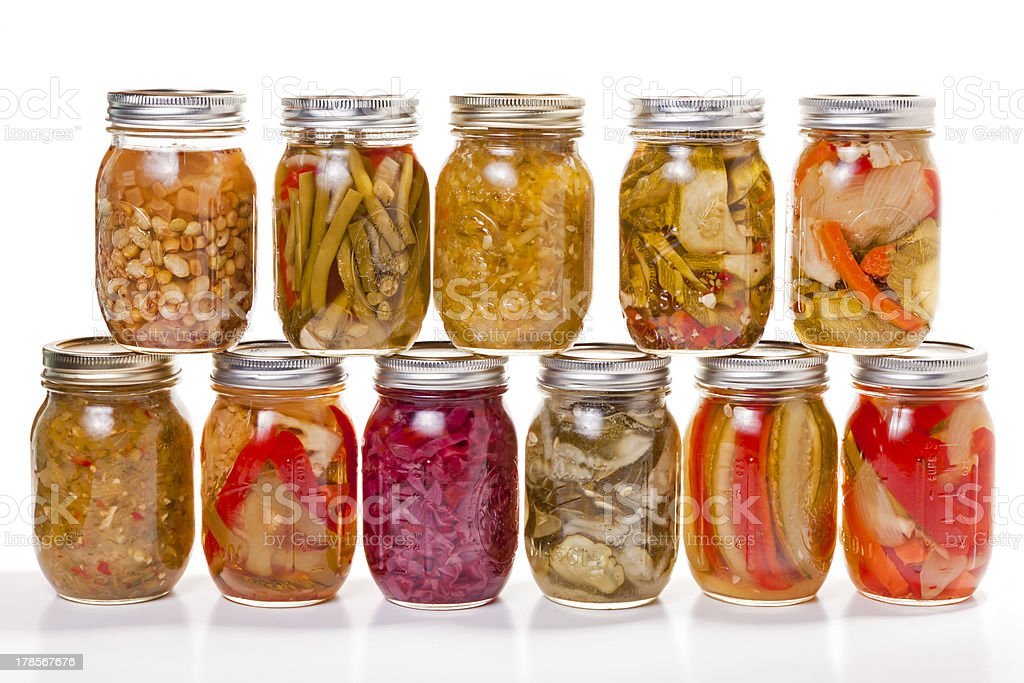Canned Goods stock photo