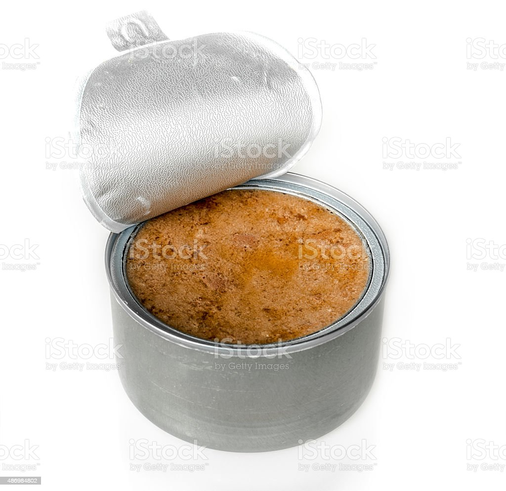 canned meat stock photo