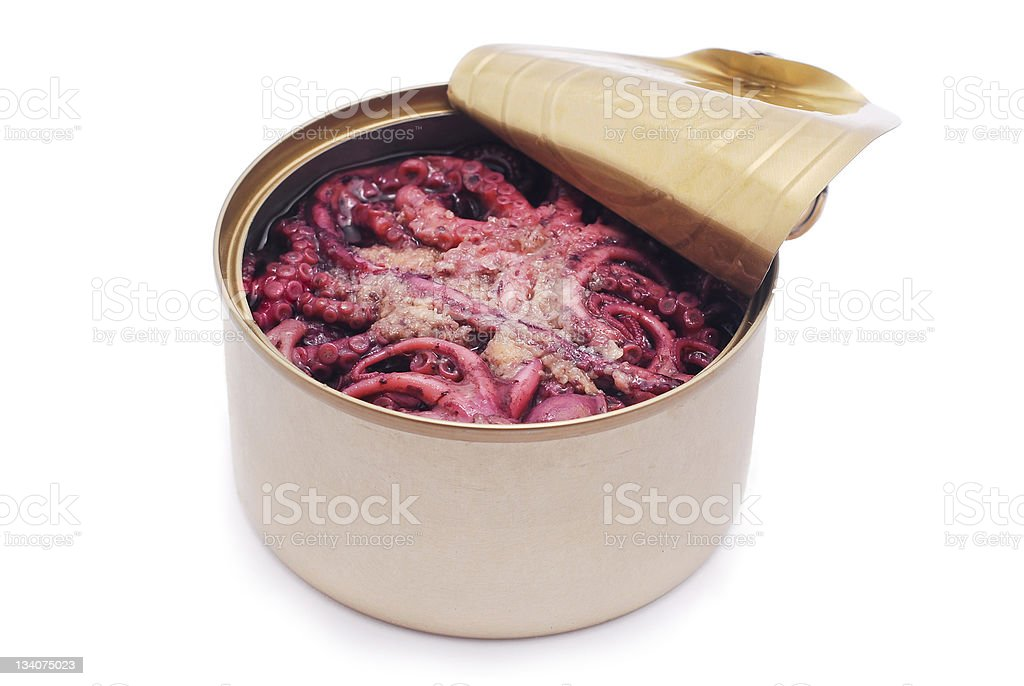 canned octopus royalty-free stock photo