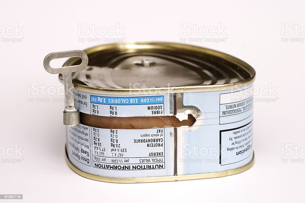 Canned pork royalty-free stock photo