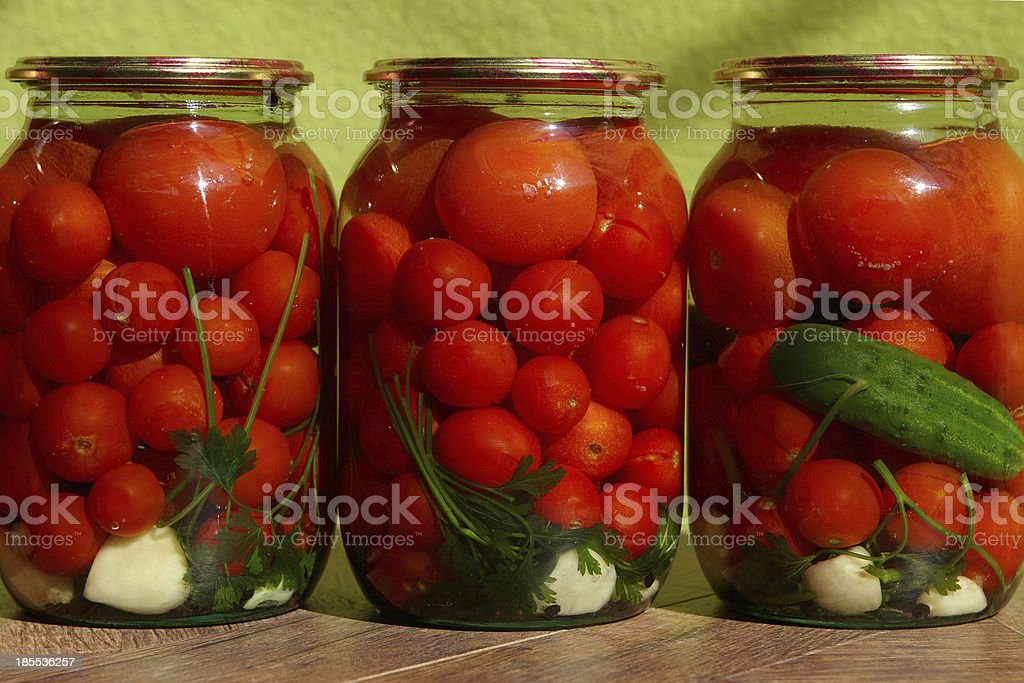 Canned tomatos royalty-free stock photo