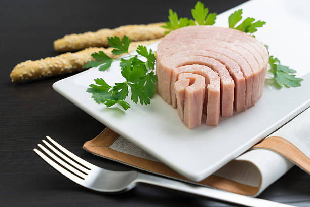 canned tuna for advertising - foto stock