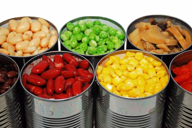 통조림 야채면 - 통조림 식품 뉴스 사진 이미지