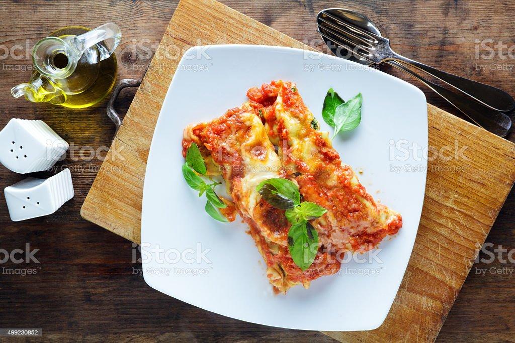 cannelloni . Italian traditional dish stock photo