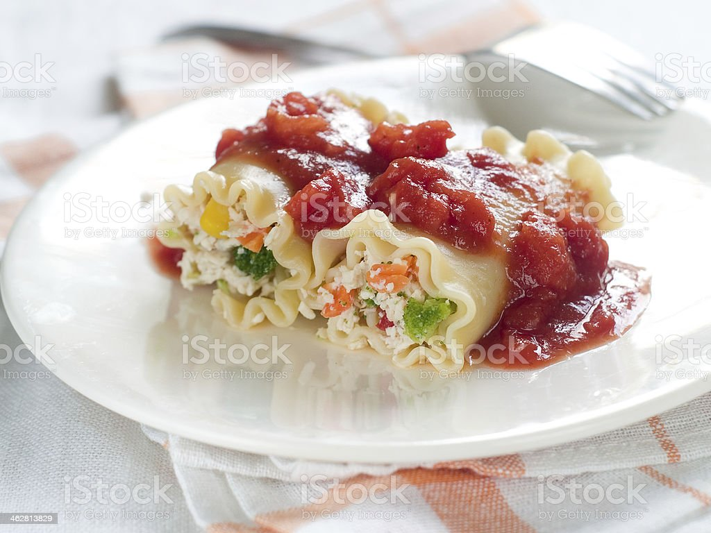 cannelloni stock photo