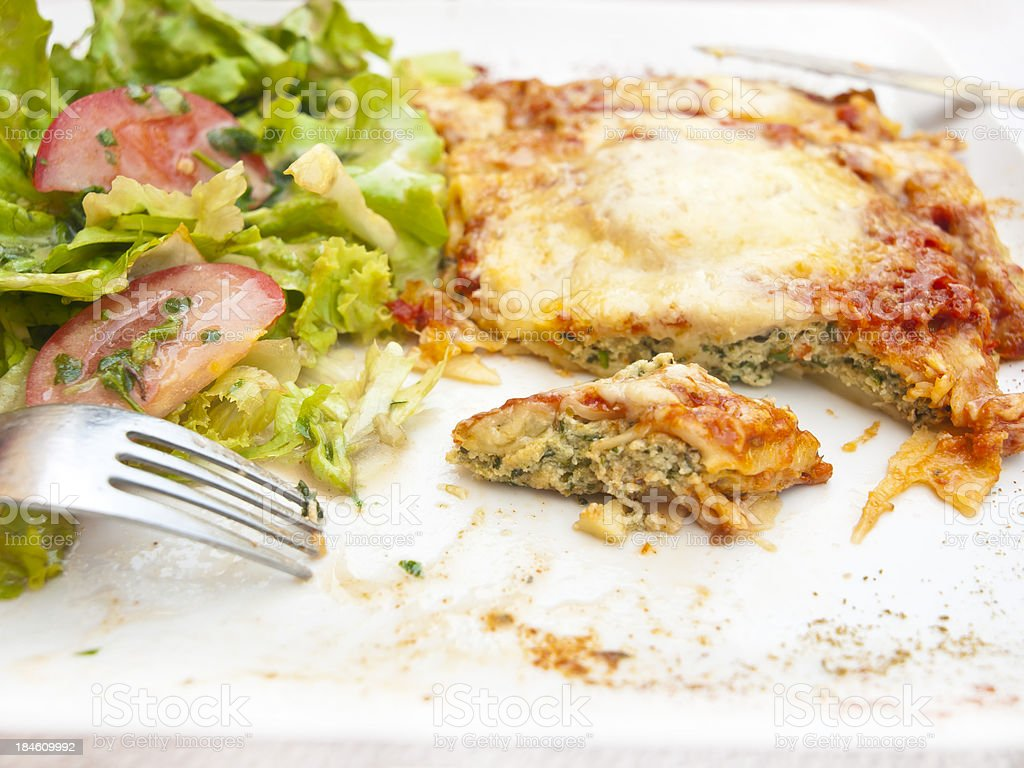 Cannelloni with broccoli royalty-free stock photo