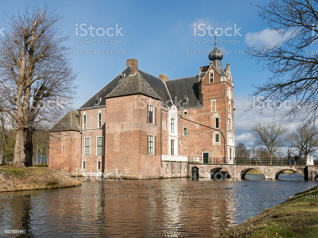 Cannenburch Castle in Vaassen, Netherlands stock photo
