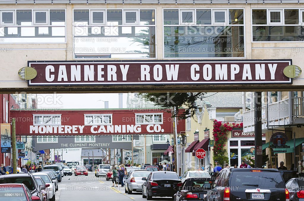 Cannery Row in Monterey, CA royalty-free stock photo