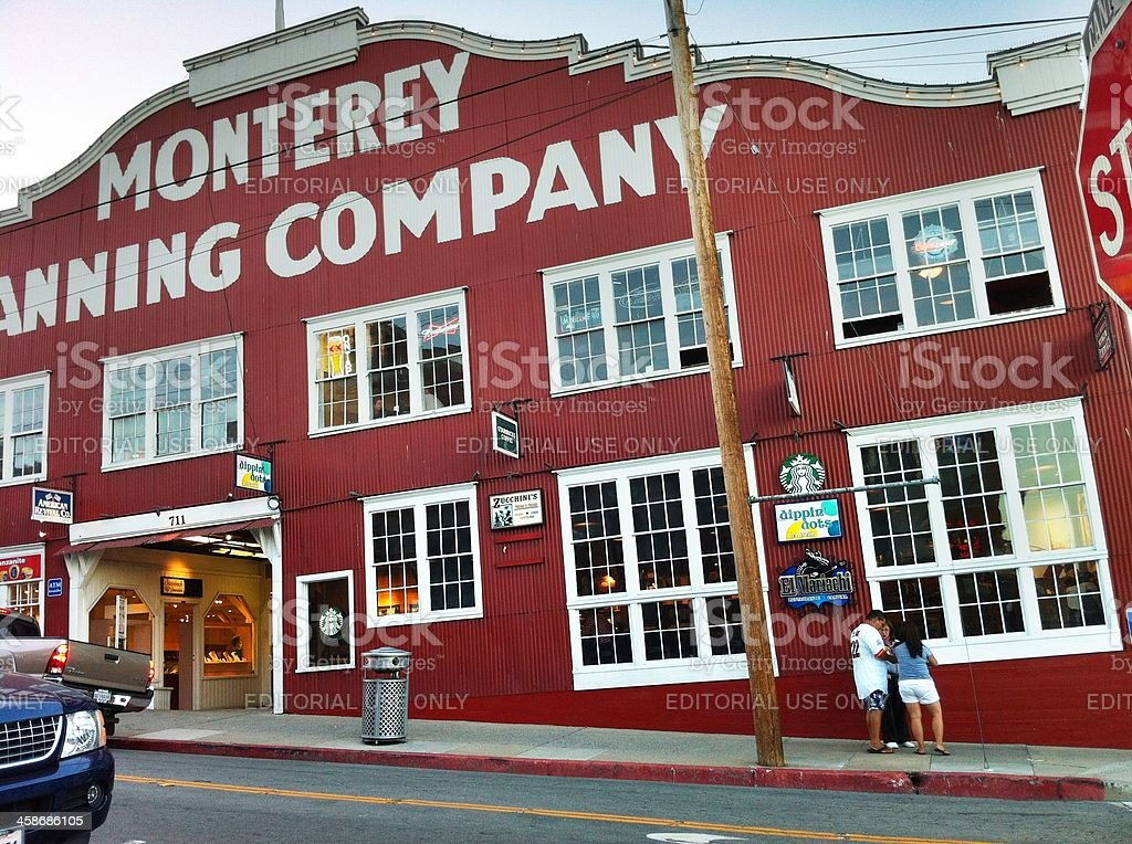 Cannery Row Monterey Canning Company Building royalty-free stock photo