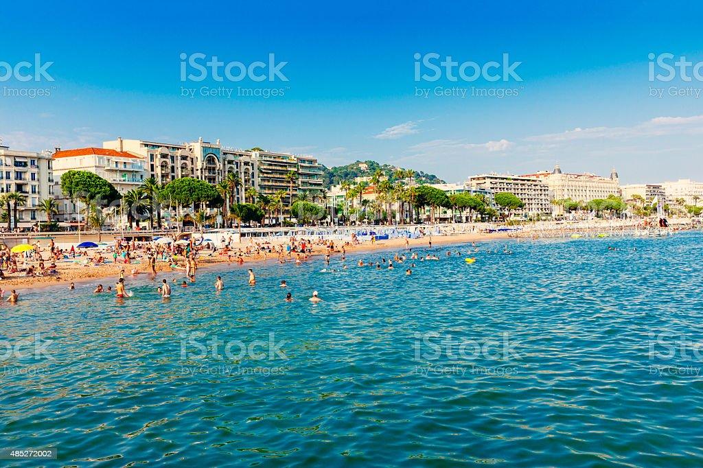 Cannes beach, France stock photo