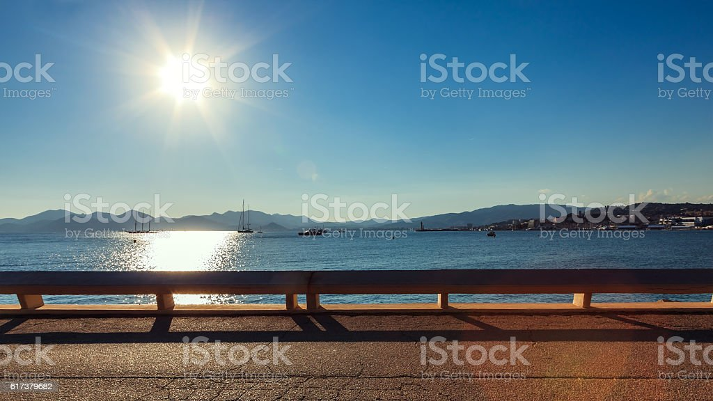 Cannes Croisette - French riviera stock photo