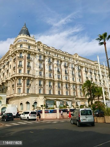 istock Cannes France Intercontinental Carlton luxury hotel exterior facade street view Croisette travel summer holiday 1164511623