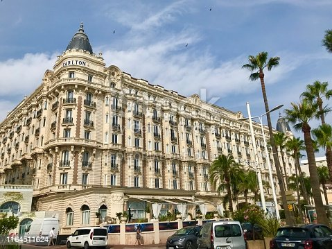 istock Cannes France Intercontinental Carlton luxury hotel exterior facade street view Croisette travel summer holiday 1164511624