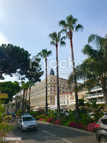 istock Cannes France Intercontinental Carlton luxury hotel outdoor facade seaside port Croisette travel summer holiday 1165695289