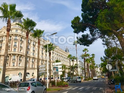 istock Cannes France Intercontinental Carlton luxury hotel outdoor facade seaside port Croisette travel summer holiday 1165695290