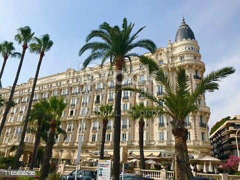 istock Cannes France Intercontinental Carlton luxury hotel outdoor facade seaside port Croisette travel summer holiday 1165695295