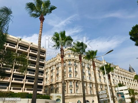 istock Cannes France Intercontinental Carlton luxury hotel outdoor facade seaside port Croisette travel summer holiday 1165695299