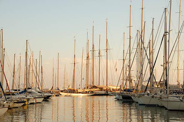 Cannes harbor bei Sonnenuntergang – Foto