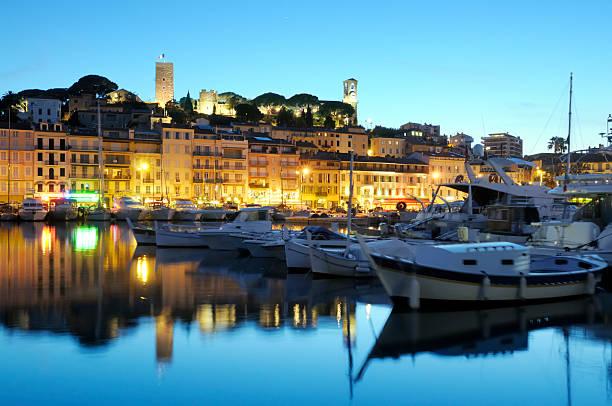 Cannes am Abend – Foto