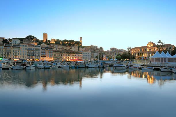 Cannes am Abend – Blick vom Hafen – Foto