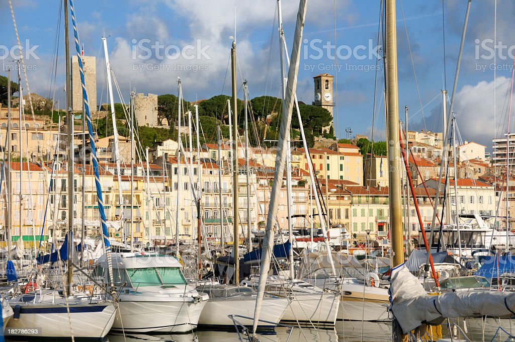 Cannes in the morning royalty-free stock photo